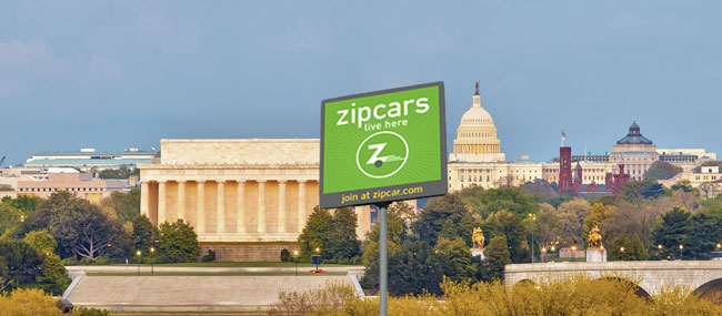 zipcars are here -- in DC