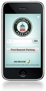 Colonial Parking iPhone App